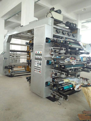 Çin Automatic 6 Color Flexographic Printing Machine With Hydraulic Roller Distribütör