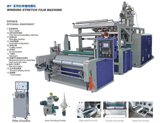 Çin Full Automatic PE Film Extrusion Equipment , 220V Blown Film Machine Distribütör